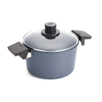 Woll Gray Diamond Lite Non-Stick Scratch Resistant 8 Inch Induction Stockpot with Lid