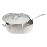 American Kitchen Tri-Ply Stainless Steel 12-inch Covered Sauté Pan