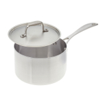 American Kitchen Stainless Steel 3 Quart Covered Saucepan with Steamer Insert