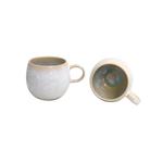 Casafina Ibiza Sea Stoneware 14 Ounce Coffee Mug, Set of 4