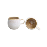 Casafina Ibiza Sand Stoneware 14 Ounce Coffee Mug, Set of 4