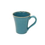 Casafina Sardegna Blue Stoneware 12 Ounce Mug, Set of 6