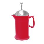 Chantal Craft Coffee Collection Red Ceramic with Stainless Steel Plunger 3.5 Cup French Press