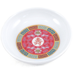 Red Longevity Asian Ware Melamine Sauce Dish Plate NEW