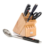 Wusthof Classic High Carbon Stainless Steel 6 Piece Beech Block Set with Spoon