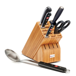 Wusthof Classic High Carbon Stainless Steel 6 Piece Bamboo Block Set with Spoon