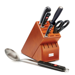 Wusthof Classic High Carbon Stainless Steel 6 Piece Cherry Block Set with Spoon
