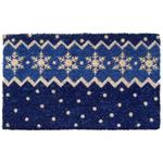 Entryways Snow Pattern Hand Woven Coir Doormat, 18 x 30 Inch