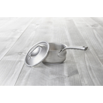 de Buyer Nostalgy Stainless Steel 6 Inch Covered Saucepan