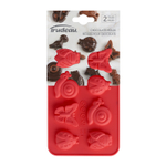 Trudeau Silicone 8 Slot Little Creatures Chocolate Mold, Set of 2