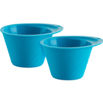 Trudeau Blue Silicone Butter Cup, Set of 2