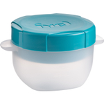 Trudeau Tropical Blue 12 Ounce Fuel Milk & Cereal Container with Ice Pack