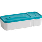 Trudeau Tropical Blue Fuel Snack'N Dip 2 Chamber Container