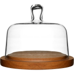 Sagaform Oval Oak Glass Cheese Serving Domed Platter