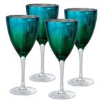 Artland Peacock Mirrored 14 Ounce Wine Glass