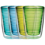 Cool Colors Insulated Tumblers Small 16 Ounce, Set of 4