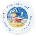 Oh Cabana Boy Ceramic Dessert Plate Set of 4