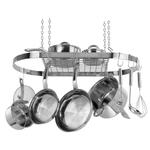 Range Kleen Stainless Steel 24 Piece Oval Pot Rack