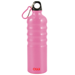Oggi Pink Aluminum Eco Friendly Sports Bottle, 26 Ounce