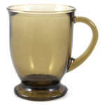 Anchor Hocking Brown Glass 16 Ounce Cafe Mug