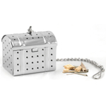 Stainless Steel Treasure Chest Infuser with Caddy