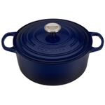 Le Creuset Signature Indigo Enameled Cast Iron 5.5 Quart Round Dutch Oven