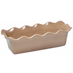 Emile Henry Oak Ceramic 2.1 Quart Large Ruffled Loaf Dish