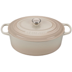 Le Creuset Signature Meringue Enameled Cast Iron 9.5 Quart Oval Dutch Oven