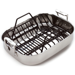 All-Clad 18/10 Stainless Steel Small Roti Roasting Pan with Rack
