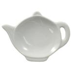 HIC Harold Import Co White Porcelain Teapot Tea Bag Caddy