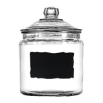 Anchor Hocking Heritage Hill 1 Gallon Glass Dry Good Storage Jar with Chalkboard Label