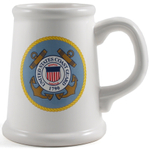 Coast Guard Ceramic Tankard Beer Mug, 22 Ounce