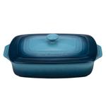 Le Creuset Marine Stoneware Covered 3.5 Quart Rectangular Casserole Dish