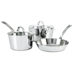 Viking Contemporary Mirror Finish Stainless Steel 5 Piece Cookware Set