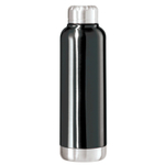 OGGI Fiesta Black Stainless Steel Double Wall 25 Ounce Sport Bottle