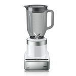 Braun PureMix Stainless Steel and White 1.75 Quart Countertop Blender and Silicone Blender Spatula