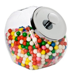 Anchor Hocking Glass Penny Candy Jar with Chrome Cover, 1/2 Gallon