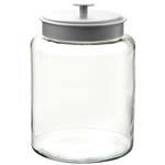 Anchor Hocking Glass Montana Jar with Brushed Aluminum Cover, 2.5 Gallon