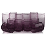 Artland Iris Plum Seeded 12 Piece Double Old Fashioned Glass and Highball Tumbler Set