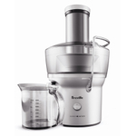 Breville Juice Fountain Compact Electric Juicer with 33.75 Ounce Glass Bottle
