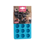 Trudeau Silicone 15 Slot Round Chocolate Mold, Set of 2