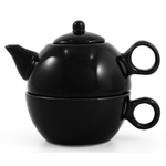 Metropolitan Tea Black Ceramic Tea For Me Pot