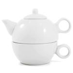 Metropolitan Tea White Ceramic Tea For Me Pot