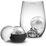 Final Touch On the Rock 2 Piece Highball Glass and IceBall Set