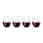 Final Touch Conundrum 16 Ounce Red Wine Glass, Set of 4