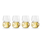 Final Touch Conundrum 9 Ounce White Wine Glass, Set of 4