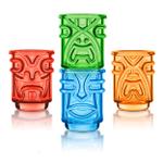 Final Touch Multi-Colored 4 Piece Tiki Shot Glass Set