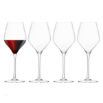 Final Touch DuraShield Lead-Free Crystal Red Wine Glass, Set of 4