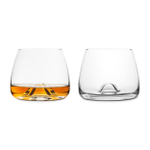 Final Touch DuraShield Lead-Free Crystal Whiskey Glass, Set of 2