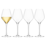 Final Touch DuraShield Lead-Free Crystal White Wine Glass, Set of 4